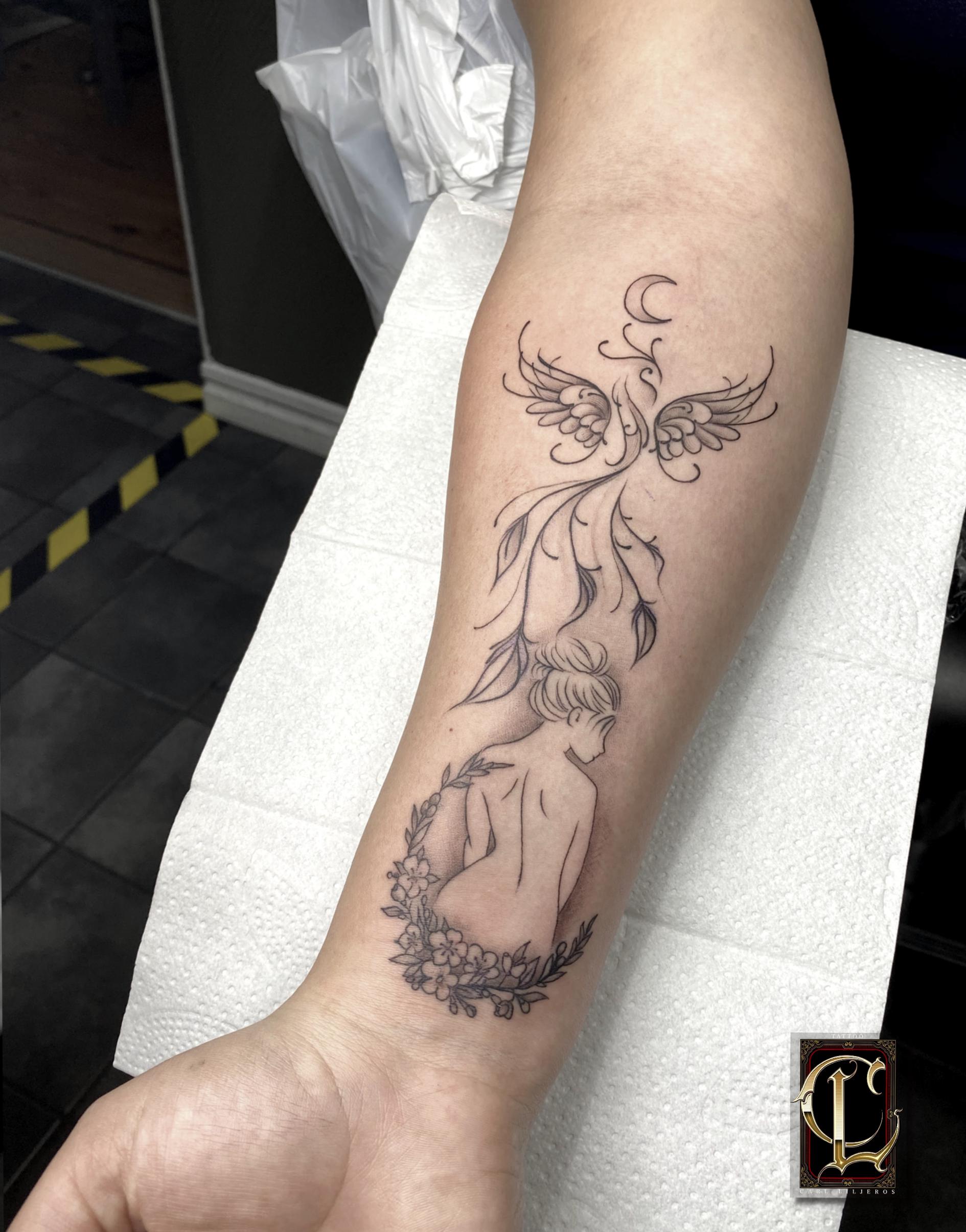 Tatuering Kvinna